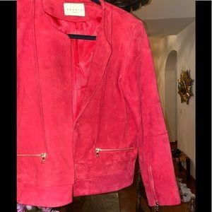 SANDRO PARIS  Red Suede Jacket